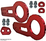 ICBEAMER Racing Style Anodized CNC Aluminum Tow Hook Kit Come with Front and Rear Tow Hook Screw [Color: Red]