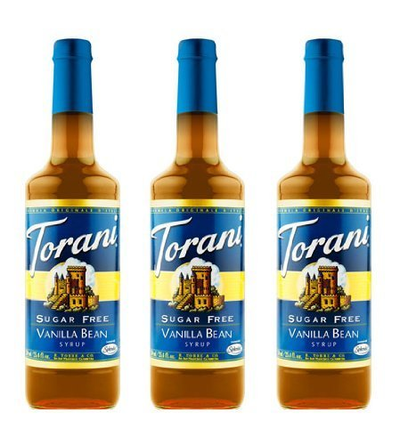 Torani Sugar Free Vanilla Bean Syrup 750mL (Pack of 3) by Torani