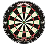 winmau pro sfb bristle dartboard best-in-class durability and performance, galvanised steel