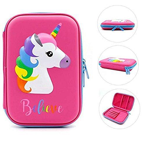 3 Pocket Pencil Case For Girls - 6