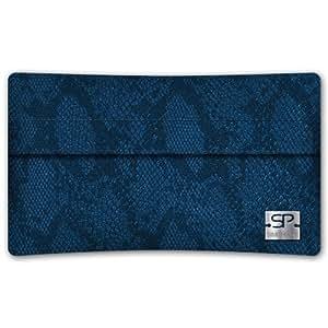 SIMON PIKECáscara Funda de móvi NewYork 01 azul pour Samsung S5560 cuero artificial serpiente