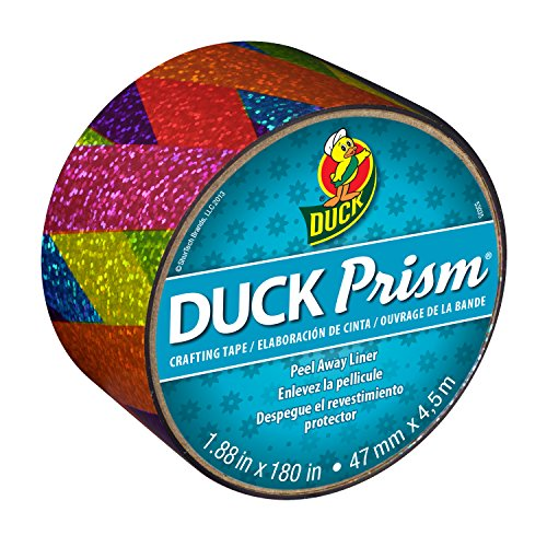 - Duck Brand Prism Crafting Tape, 1.88-Inch x 5-Yard Roll, Rainbow Ribbon (283705)