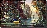 ''At Home on Mingo Creek'' by Robert Binks - Artwork On Tile Ceramic Mural 18'' x 30'' Kitchen Shower Backsplash