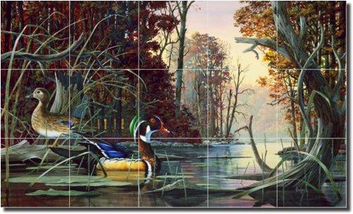 ''At Home on Mingo Creek'' by Robert Binks - Artwork On Tile Ceramic Mural 18'' x 30'' Kitchen Shower Backsplash by Artwork On Tile (Image #1)