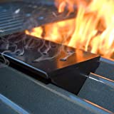 Charcoal Companion Large Nonstick V-Shaped Smoker Box for Gas Grills -- Provides Great Smoky Flavor -- CC4057