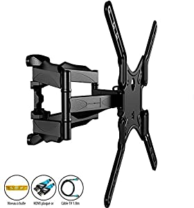 invision invision support mural tv double bras fixation murale orientable inclinable. Black Bedroom Furniture Sets. Home Design Ideas