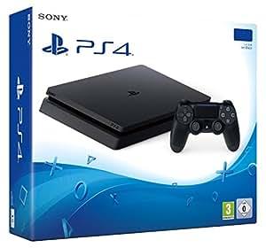 Console Playstation 4 PS4 Slim 1TB + 1 Ano de Garantia + 20 Jogos + Bolsa PS4 Personalizada
