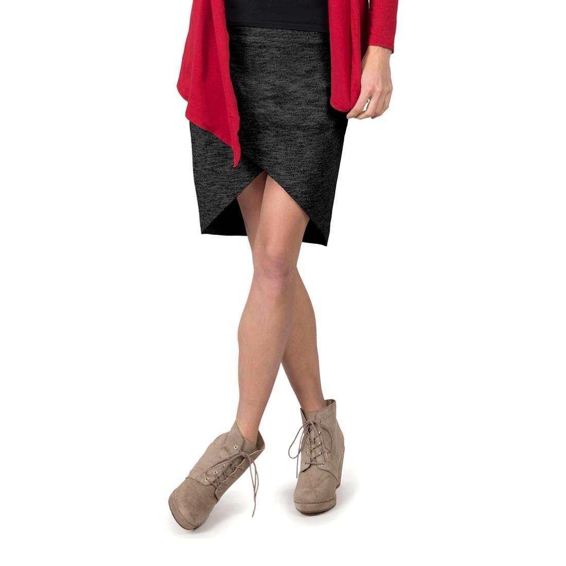Soybu Women's Wren Skirt, Black Heather, Medium