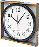 Bernhard Products Black Wall Clock Silent Non