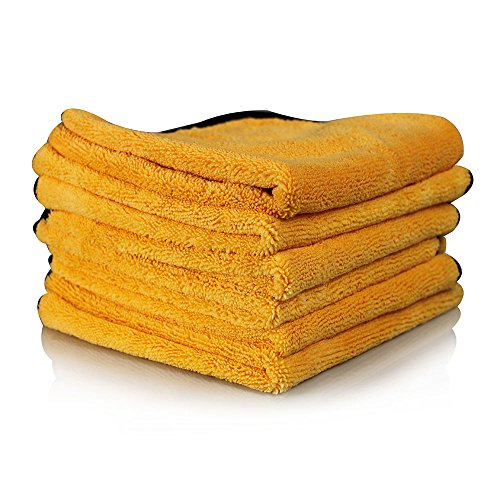 Chemical Guys MIC_507_06 Professional Grade Premium Microfiber Towel, Gold (16 in. x 24 in.) (Pack of 6) (Inside Mic)
