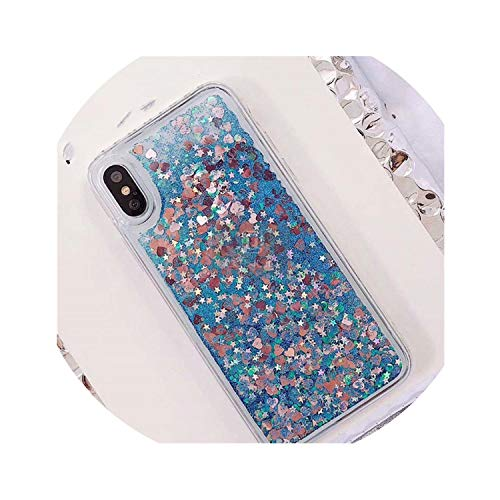 Phone Case Bling Sequins,Blue,for iPhone X