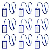 10PCS Vertical Style Plastic Card Badge Holder with Lanyard for ID School Work Document Cards