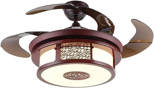 Ventiladores de techo con lámpara Luz De Ventilador LED De Techo ...