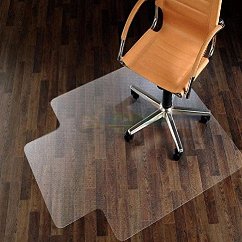 "Cherry Queen New 48"" x 36"" PVC Home Office Chair Floor Mat for Wood/Tile 1.50mm Thick"