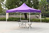 American Phoenix 10×10 10×15 10×20 [White Frame] Portable Event Canopy Tent, Canopy Tent, Party Tent Gazebo Canopy Commercial Fair Shelter Car Shelter Wedding Party Easy Pop Up (Purple, 10×10) For Sale