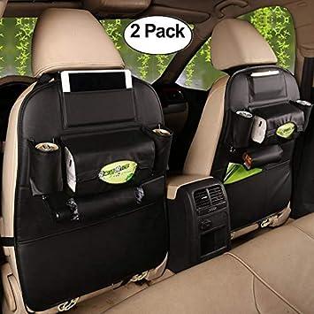 HCMAX 1 Pack Auto-R/ückenlehnenschutz Autositz zur/ück Veranstalter Tasche R/ücksitz Schutzaufbewahrung Trittmatte Ipad Mini Halter Gro/ßes Reisezubeh/ör