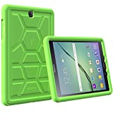 Galaxy Tab S2 9.7 Case - Poetic [Turtle Skin Series]-[Corner/Bumper Protection][Tactile side Grip][Sound-Amplification][Bottom Air Vents] Protective Silicone Case for Samsung Galaxy Tab S2 9.7 Green