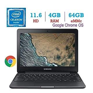 Samsung Premium 11.6-Inch HD Chromebook Intel Dual Core Celeron Up to 2.48GHz, 4GB DDR3 RAM, 64GB eMMC Memory, 802.11ac WiFi, Bluetooth, HDMI, Stereo Speakers, Webcam, USB 3.0, Google Chrome OS