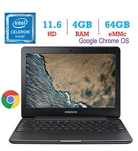 Samsung Premium 11.6-Inch HD Chromebook Intel Dual Core Celeron Up to 2.48GHz, 4GB DDR3 RAM, 64GB eMMC Memory, 802.11ac…