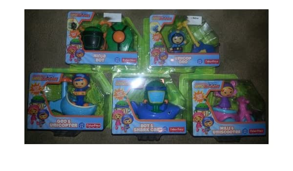 TEAM UMIZOOMI 5 Vehicles Geo Umicopter Milli Umiscooter Bot ...