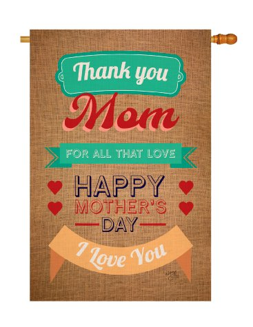 Breeze-Decor-H115099-Thanks-Mom-Summer-MotherS-Day-Decorative-Vertical-House-Flag-28-x-40-Multicolor