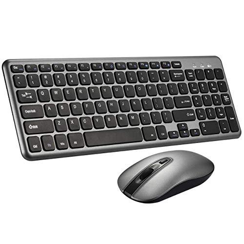 - Mpow Wireless Keyboard & Mouse Combo, Compact 2-Key Zone Chiclet Keyboard, Ultra Slim 2.4G Wireless Connection, Longer Battery Life for PC Desktop Laptop Tablet, XP/Vista/ 7/8/ 10