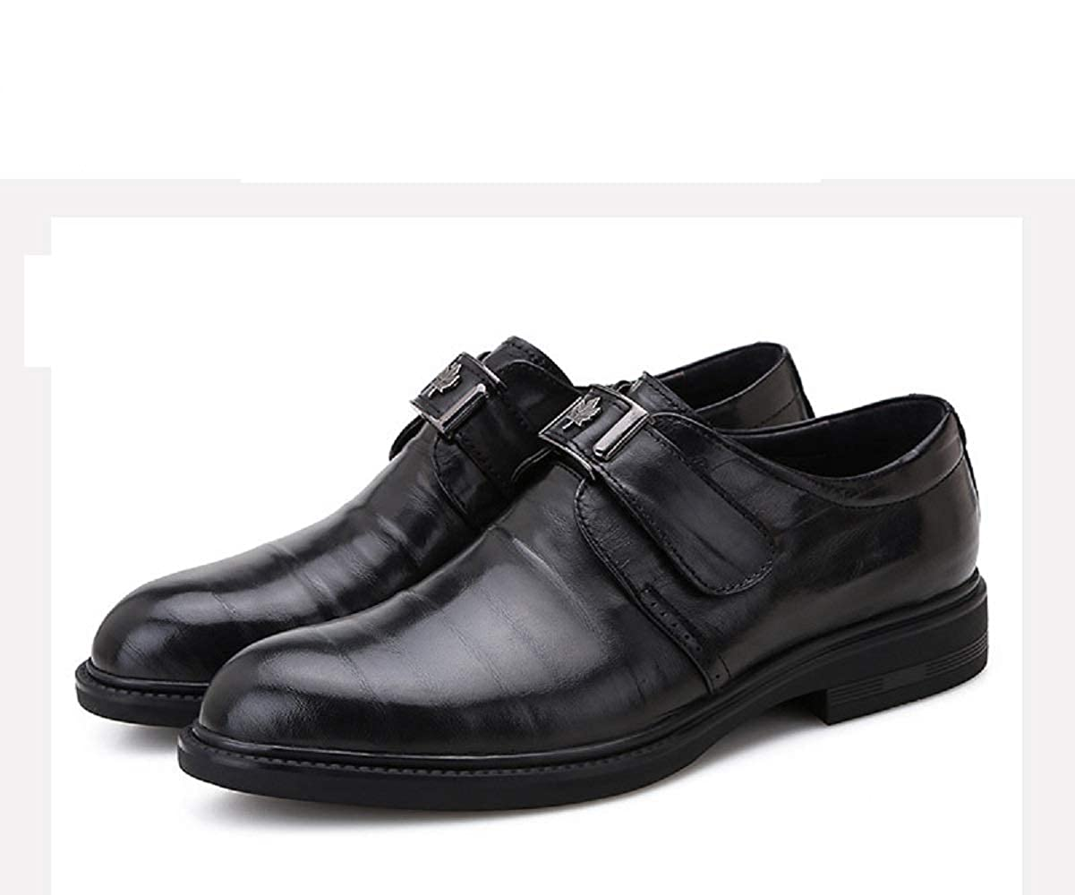 Black Men's Casual shoes Threaded City Work Pointed Toe