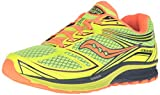 Saucony Men's Guide 9 Running Shoe, Blue/Slime/Black, 11 M US