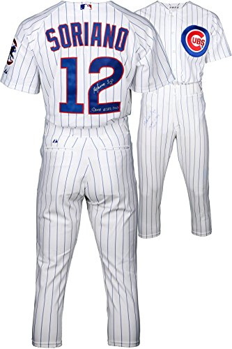 Majestic Cubs Pinstripe Authentic Jersey - 6