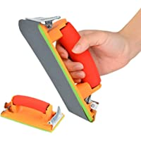 AMAZOIN 2 Paquetes de Lijado Manual con Mango de Esponja Sujetador de Papel de Lija Manual para el Pulido automotriz Lijado de Metal y Acabado de Muebles de Madera Tablero de Yeso