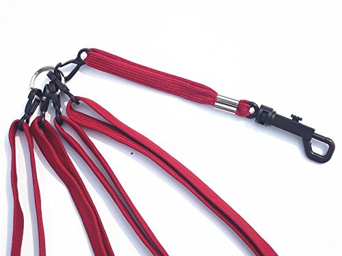 A99 Golf Leash Strap 4 II Black with Bag Strap Red by A99 Golf (Image #1)