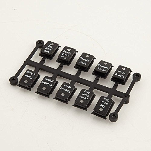 Bosch 00498722 Dishwasher Control Panel Button Set Genuine Original Equipment Manufacturer (OEM) Part
