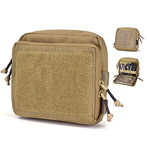Gear Pouches - REEBOW GEAR Tactical Admin Pouch EDC Molle Military Bag Organizer Tan