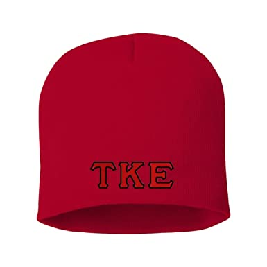 4e1f8bfc Greekgear Tau Kappa Epsilon TKE Big Letter Skull Cap Red at Amazon ...
