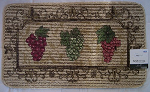 Grape Kitchen Rug 18x30in (Kitchen Rug Wine Grapes compare prices)