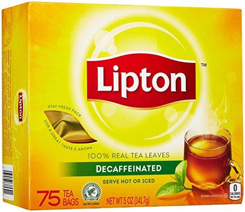Lipton Black Tea Bags, Decaf, 72 ct (Lipton Decaffeinated Tea Bags)
