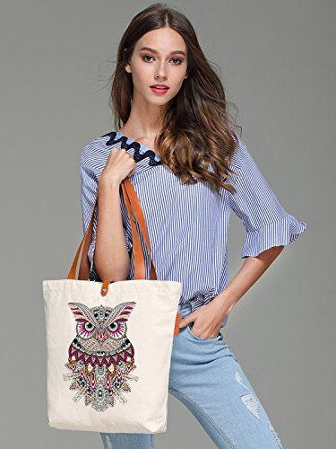 So'each Bolsa de tela y de playa, color natural (beige) - HBA-UK-ODI-50