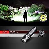 KAMOLTECH Klarus G20 CREE XHP70 N4 3000LM 26650 Outdoor Search EDC LED Flashlight
