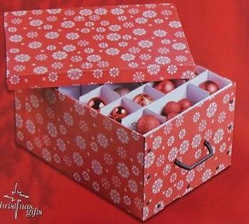 Box Christbaumkugeln.Mq Aufbewahrungsbox Organizer Kiste Box Für Weihnachtskugeln Aufbewahrung Kugeln Rot