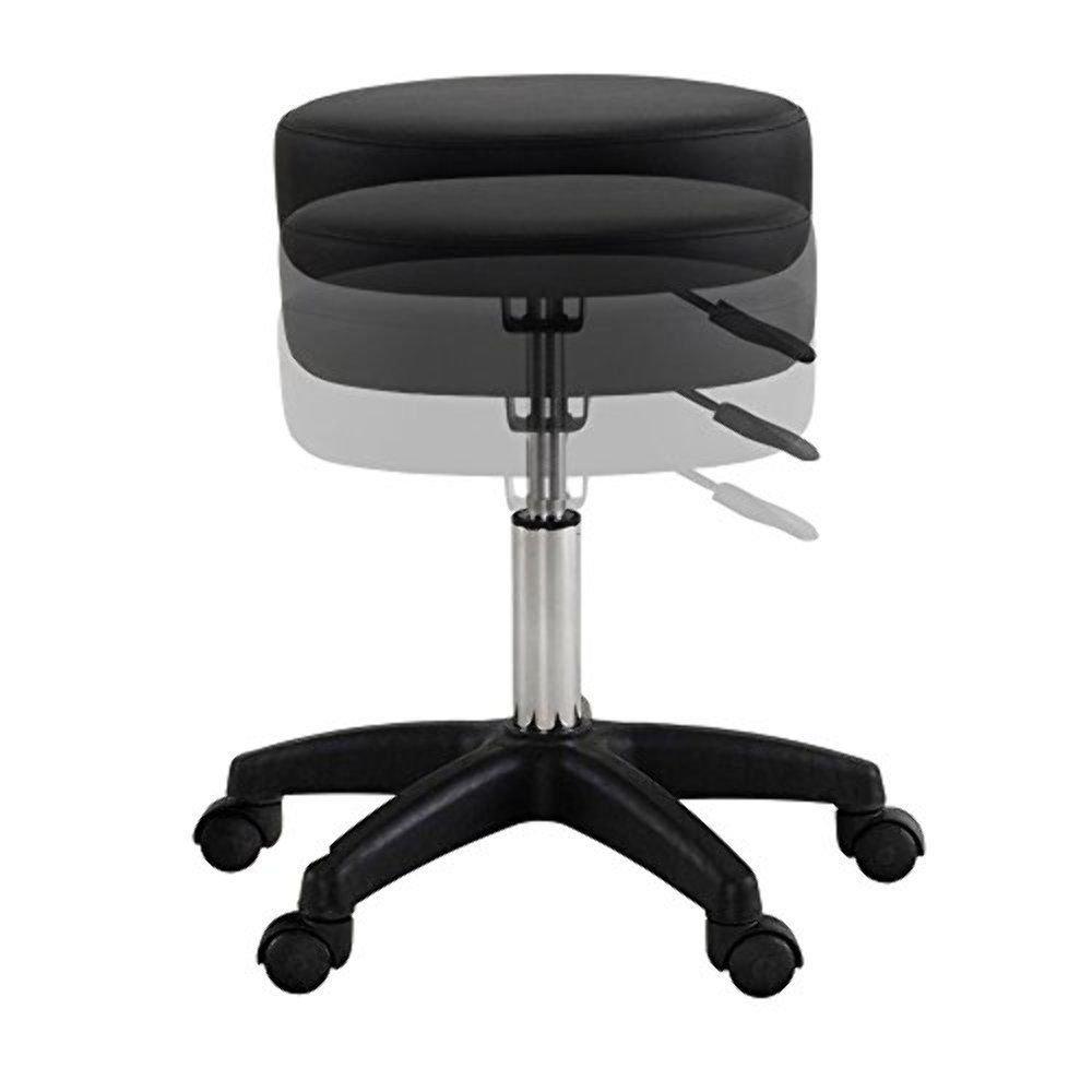 New Premium! Adjustable Hydraulic Tattoo Salon Rolling Spa Swivel Stool Chair Facial Massage/ Black #250