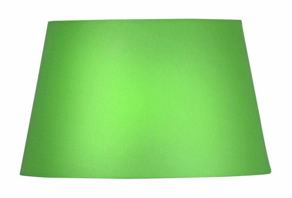 Paralume cilindrico in cotone verde tessuto Oaks Lighting 25,5 cm
