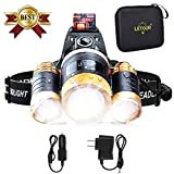 LETOUR LED Headlamp Cree T6 Headlamps Zoom 4 Brightness 8000 Lumens 500Meters Lighting