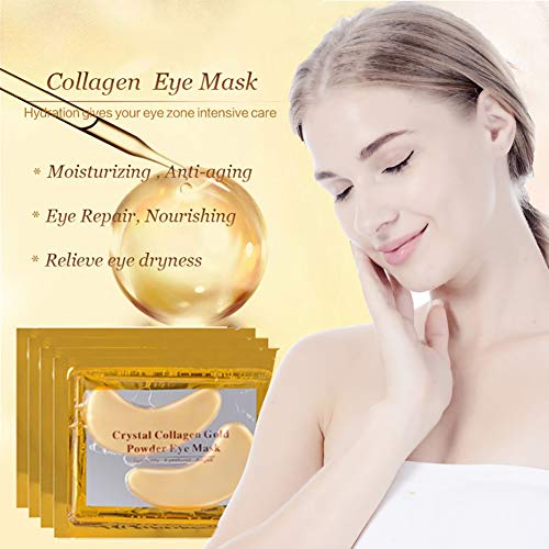 519P%2BNSynHL - Under Eye Patches, Eye Mask, Gold Under Eye Mask, Gold Eye Mask, Eye Pads, Collagen Eye Patch, JUYOU Eye Patch For Anti-wrinkles, Puffy Eyes, Dark Circles, Fine Lines Treatment (30Pairs 24k Gold)