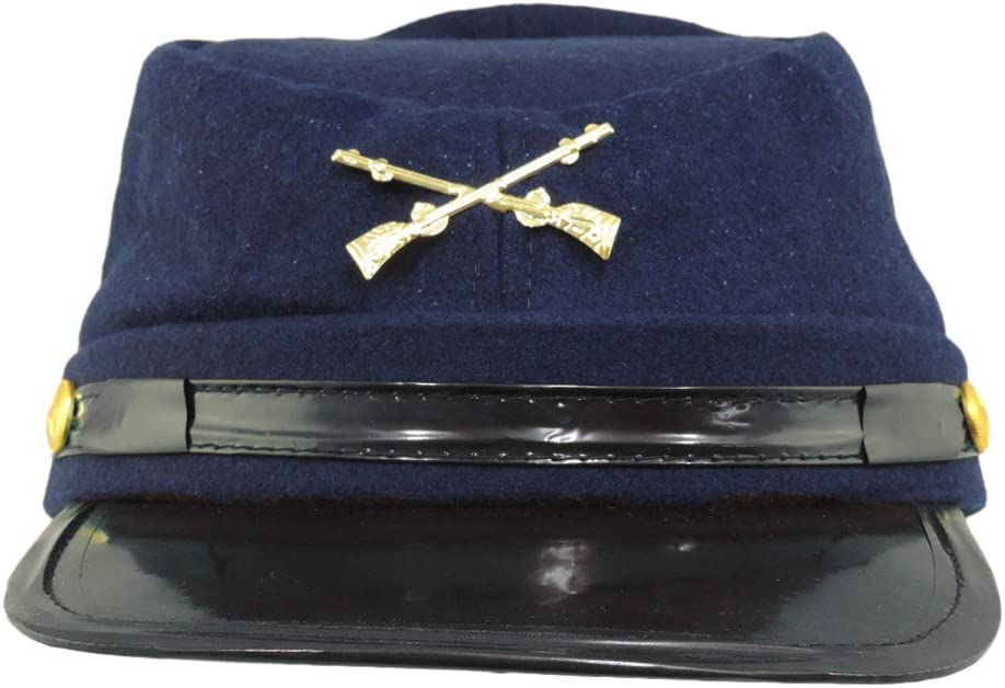 Union Soldier Army Civil War Reenactor Kepi Fatigue Blue Wool Hat Medium