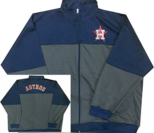 Houston Jacket Astros (Majestic Houston Astros MLB Mens 2-Tone Track Jacket Big & Tall Sizes (4XL))