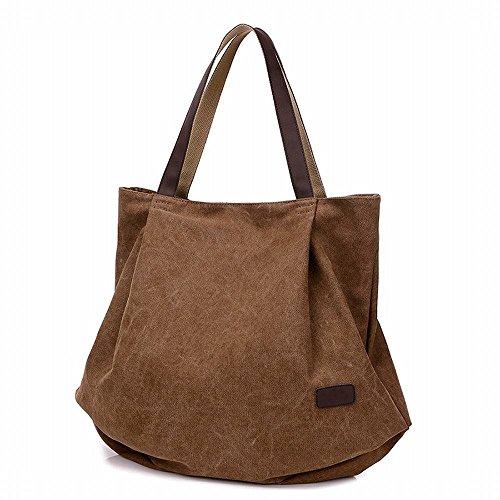 Hung Kai Toile de grande capacité multi-usages toile dames simple toile sac sac à main Rouge