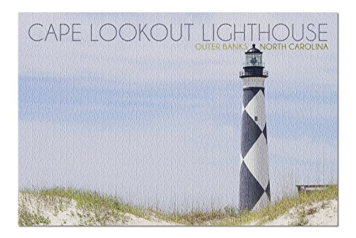 Cape Lookout Lighthouse - Outer Banks, North Carolina (20x30 Premium 1000 Piece Jigsaw Puzzle, Made in USA!)
