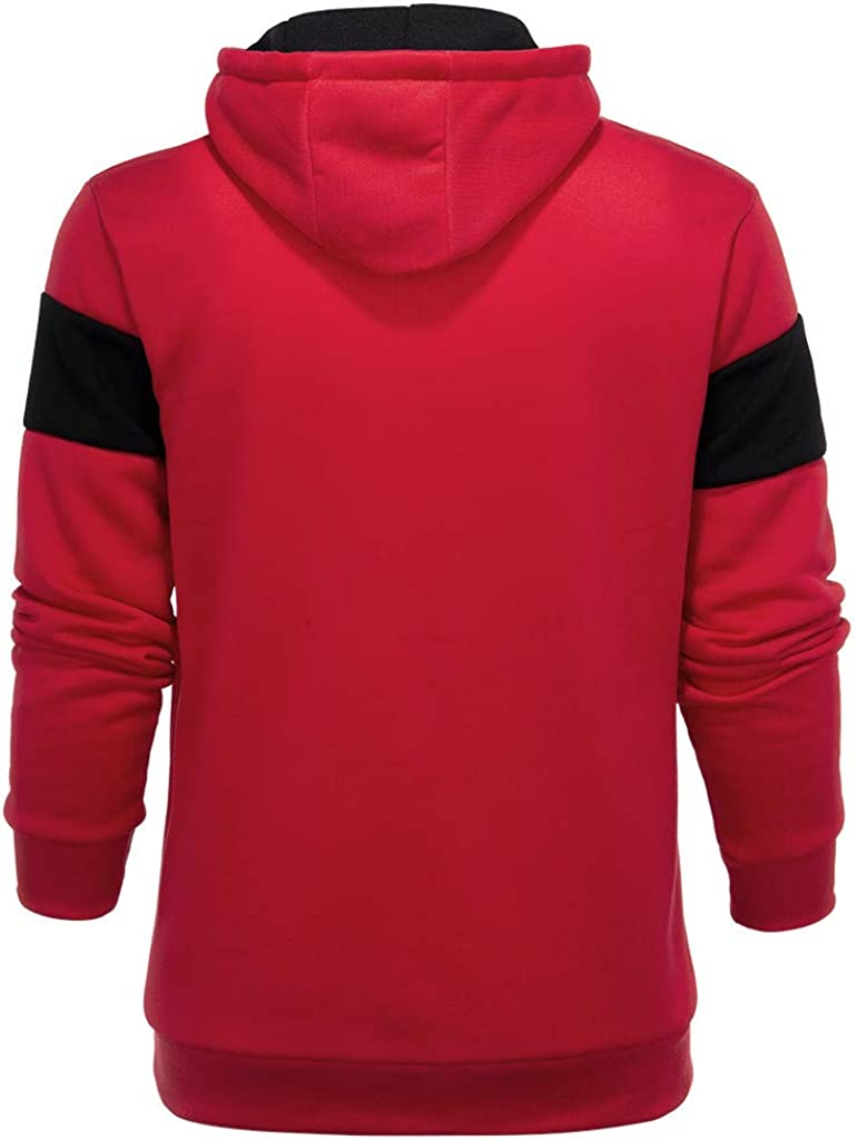 YANYUN Hooded Sweatshirt for Men,Mens Hoodies Casual Autum Slim Fit Long Sleeve Tops Blouse Jacket