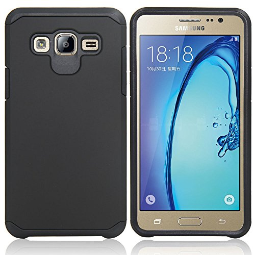 Galaxy J7 Neo J701M/J7 Nxt J701F/J7 Core J701 Case, With Screen Protector & Stylus, Telegaming Dual Layer Defender Impact Resistant Armor Cover For Samsung Galaxy J7 J700/Core Duos J701FZ Black