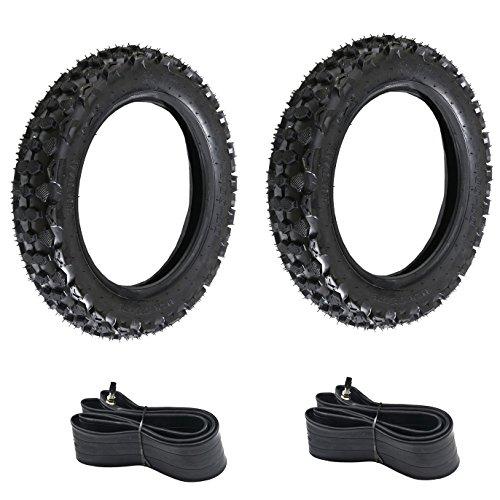 JCMOTO 2 SETS OF TIRES : 4pcs 3.00-10 (80/100-10) Motorcycle Tire And Inner Tube For HONDA XR CRF 70 50 XR50 SDG SSR Dirt Pit Bike Scooters (Honda Crf 50 Dirt Bike)